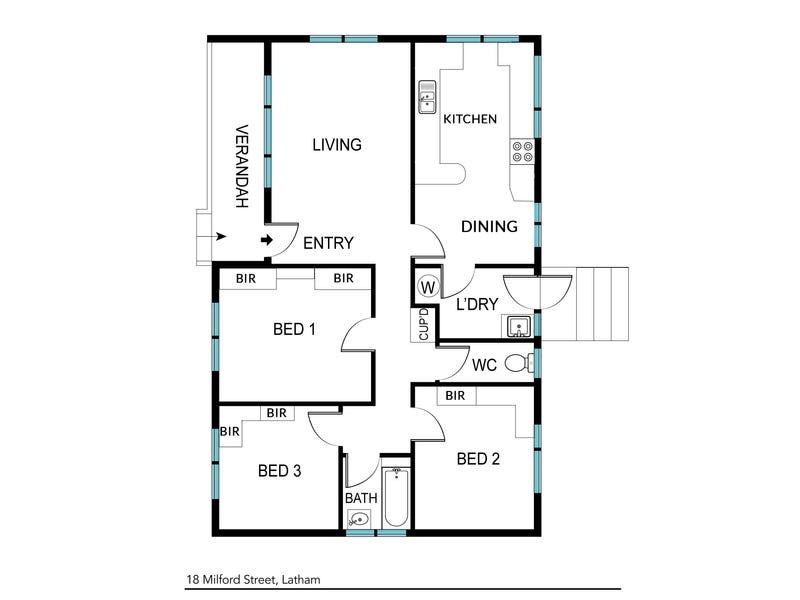 18 Milford Street, Latham, ACT 2615 - floorplan