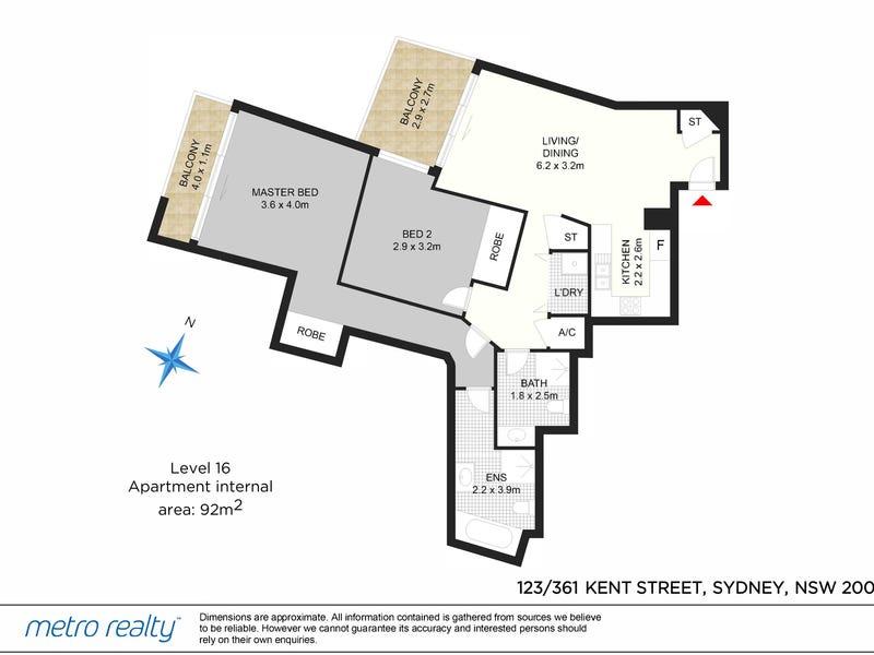 123/361-363 Kent Street, Sydney, NSW 2000 - floorplan