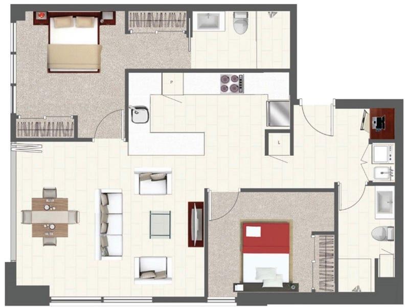 114/128 Brookes Street, Fortitude Valley, Qld 4006 - floorplan
