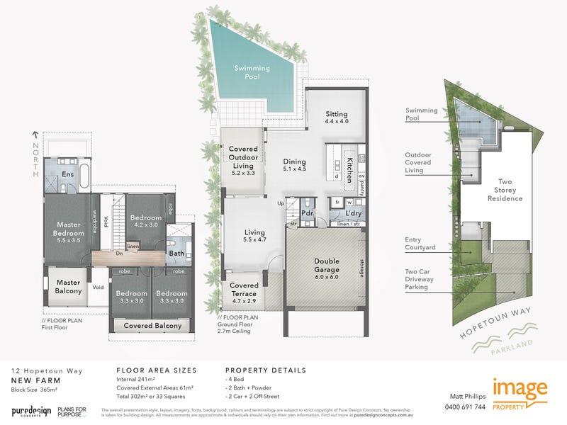 12 Hopetoun Way, New Farm, Qld 4005 - floorplan