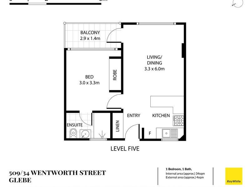 509/34 Wentworth Street, Glebe, NSW 2037 - floorplan
