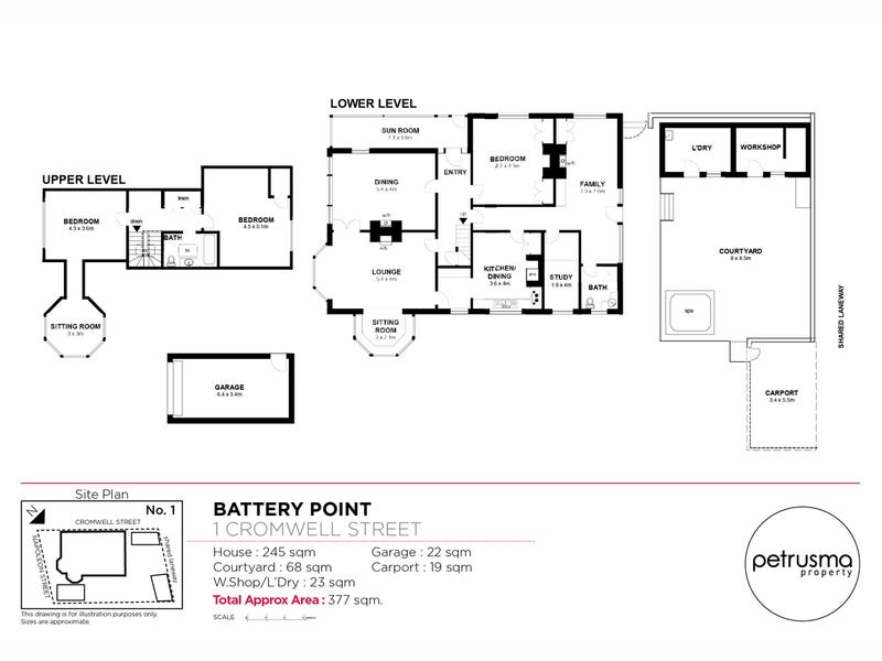 1 Cromwell Street, Battery Point, Tas 7004 - floorplan