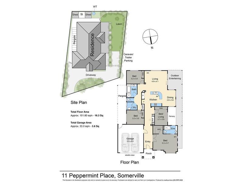 11 Peppermint Place, Somerville, Vic 3912 - floorplan