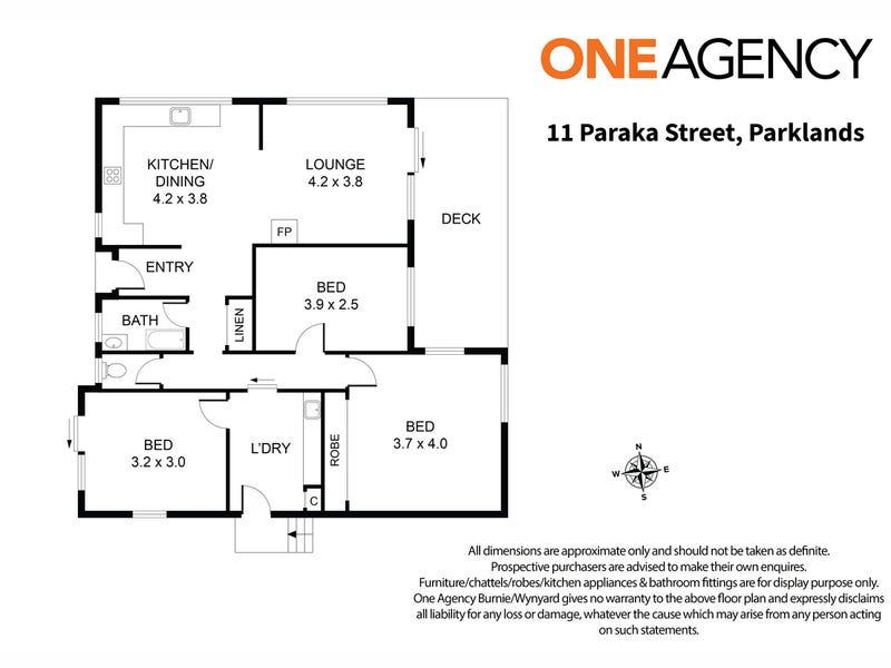 11 Paraka Street, Parklands, Tas 7320 - floorplan
