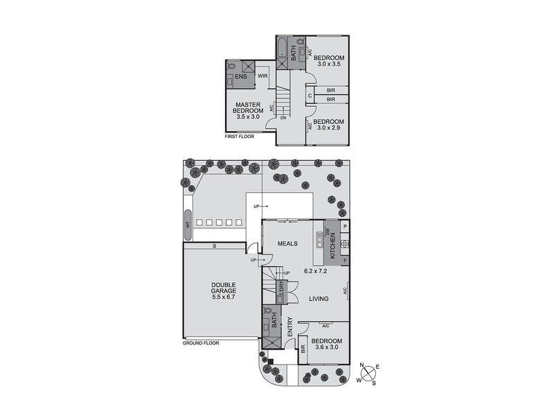 2/17 Linden Avenue, Ivanhoe, Vic 3079 - floorplan