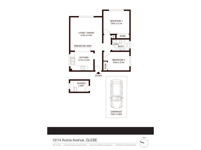 12/14 Avona Avenue, Glebe, NSW 2037 - floorplan