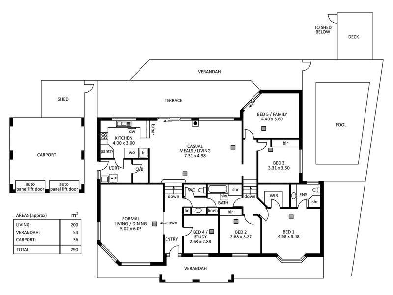 69 Woodland Way, Teringie, SA 5072 - floorplan
