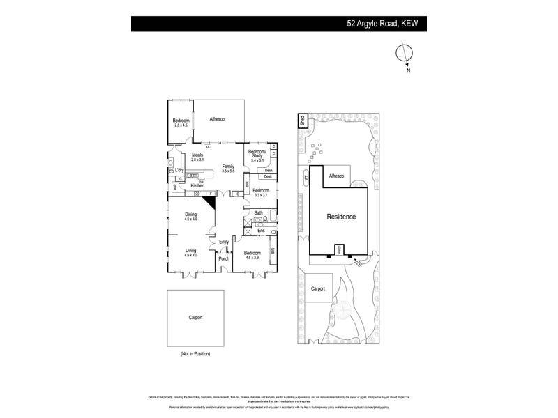 52 Argyle Road, Kew, Vic 3101 - floorplan
