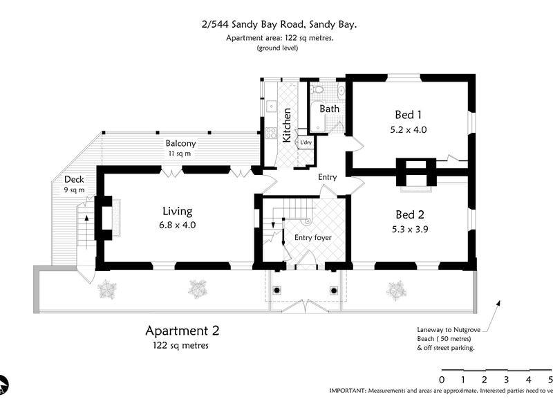 2/544 Sandy Bay Road, Sandy Bay, Tas 7005 - floorplan