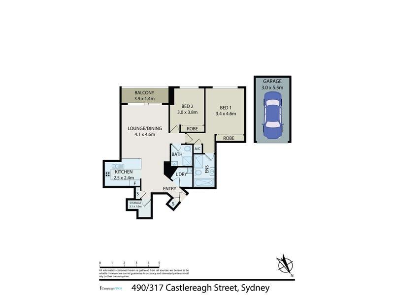 490/317 Castlereagh Street, Sydney, NSW 2000 - floorplan