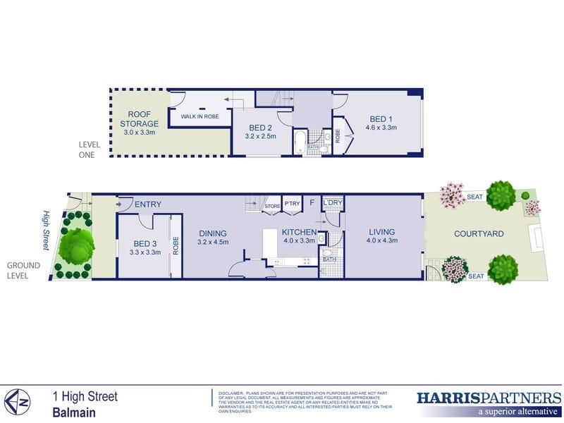 1 High Street, Balmain, NSW 2041 - floorplan