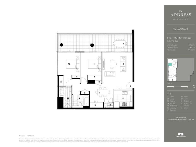 1809/13 Verona Dr, Wentworth Point, NSW 2127 - floorplan