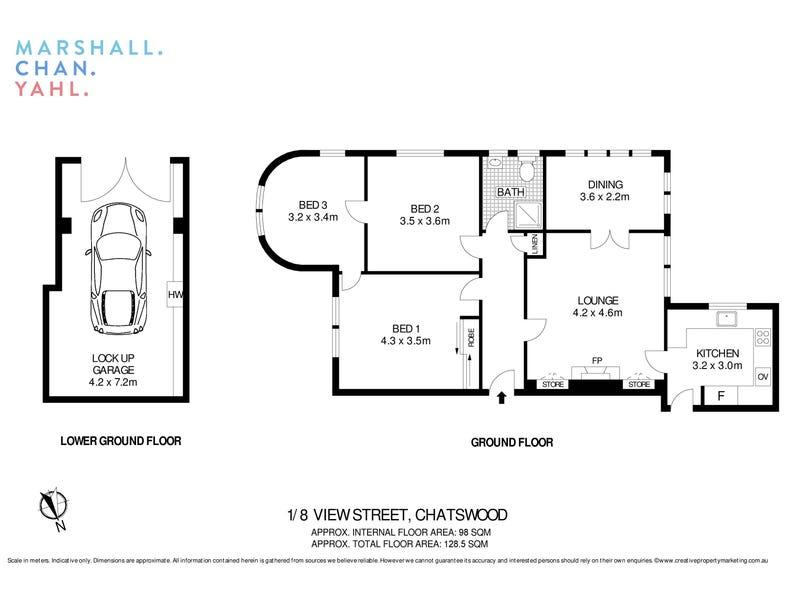 1/8 View Street, Chatswood, NSW 2067 - floorplan