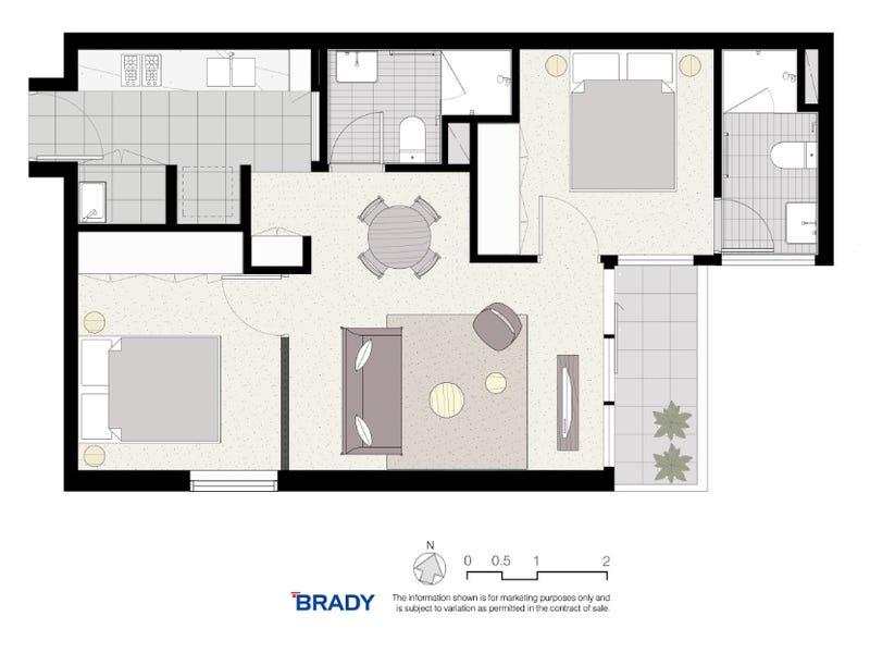 5207/500 Elizabeth Street, Melbourne, Vic 3000 - floorplan