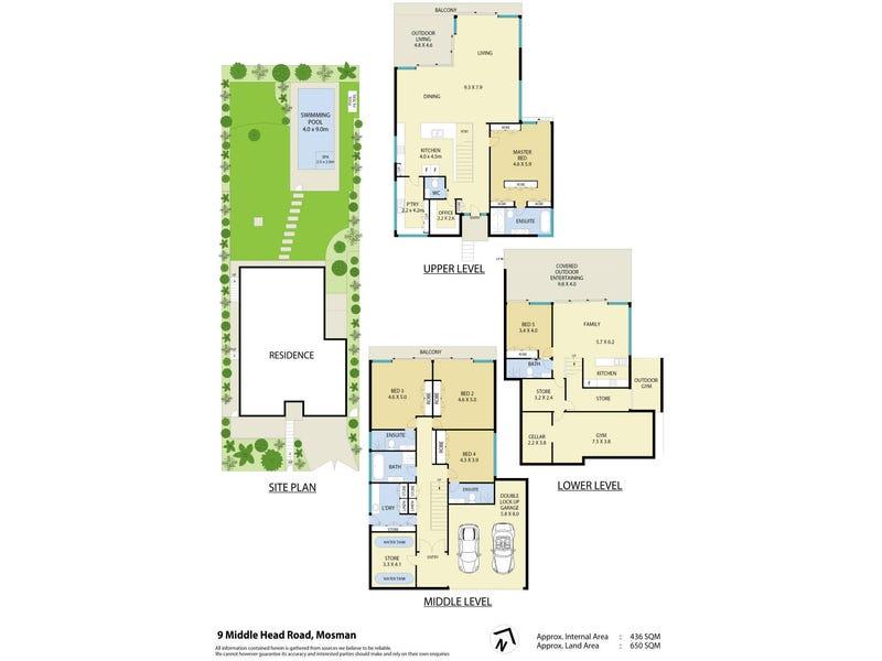 9 Middle Head Road, Mosman, NSW 2088 - floorplan