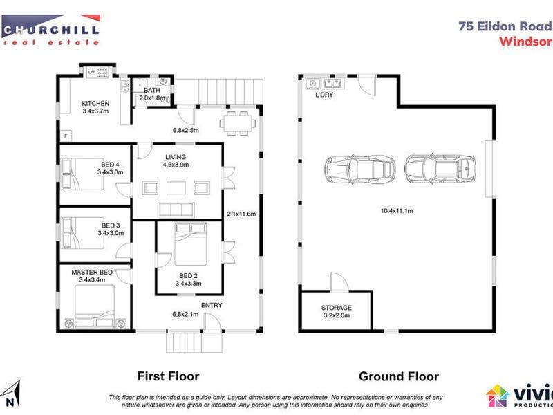 75 Eildon Road, Windsor, Qld 4030 - floorplan