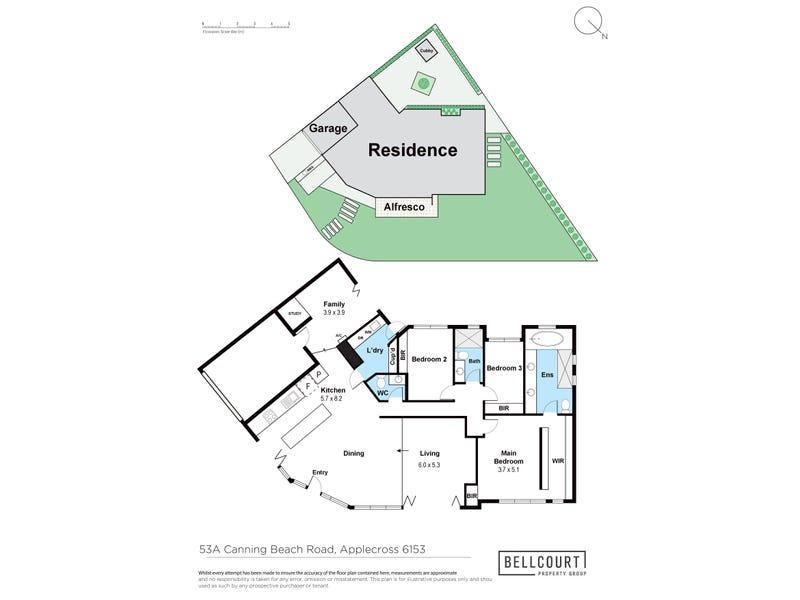 53A Canning Beach Road, Applecross, WA 6153 - floorplan