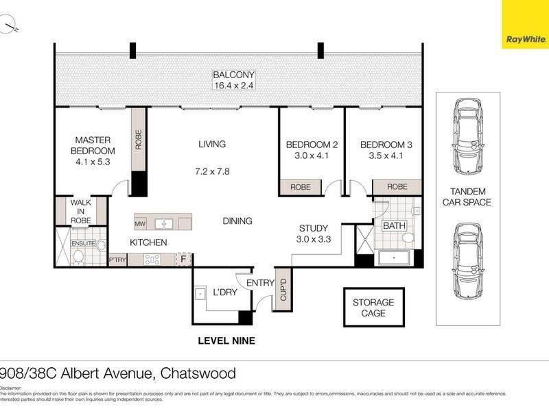 908/38C Albert Avenue, Chatswood, NSW 2067 - floorplan
