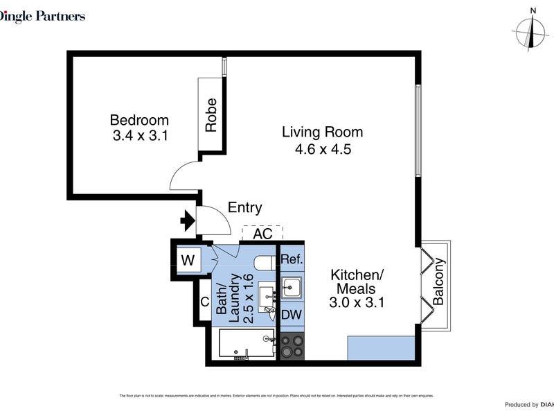 8/117 Hardware Street, Melbourne, Vic 3000 - floorplan