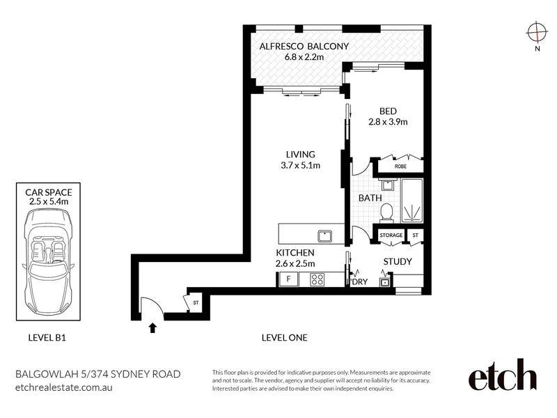 5/374 Sydney Road, Balgowlah, NSW 2093 - floorplan