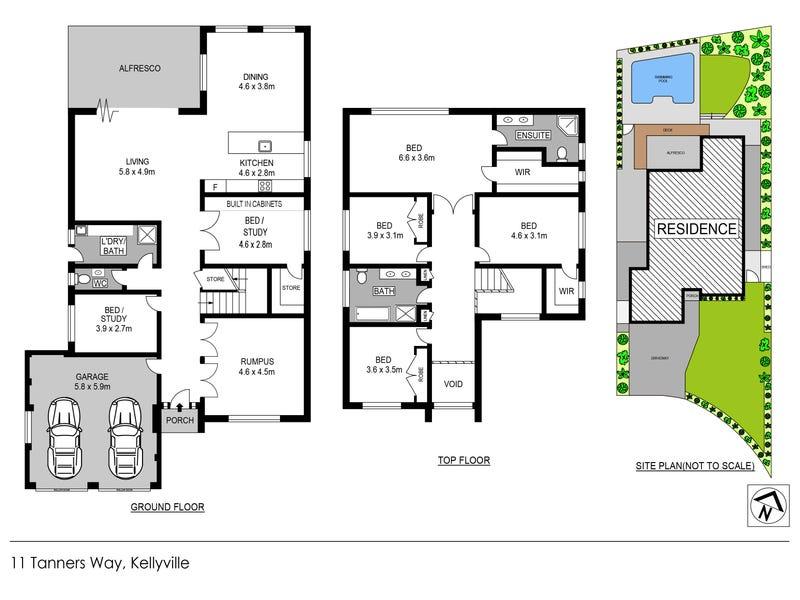 11 Tanners Way, Kellyville, NSW 2155 - floorplan