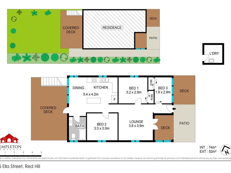 16 Ella Street, Red Hill, Qld 4059 - floorplan