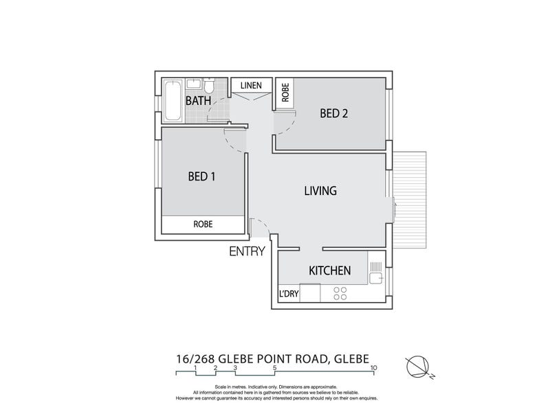 16/268 Glebe Point Road, Glebe, NSW 2037 - floorplan