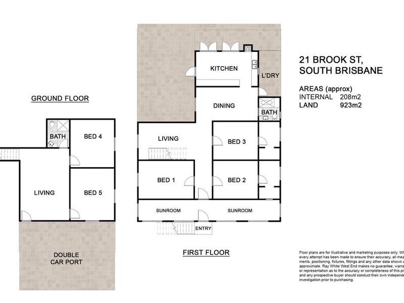21 Brook Street, South Brisbane, Qld 4101 - floorplan