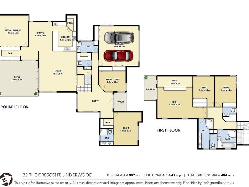 32 THE CRESCENT, Underwood, Qld 4119 - floorplan