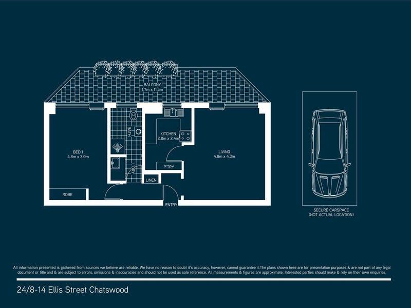 24/8-14 Ellis St, Chatswood, NSW 2067 - floorplan