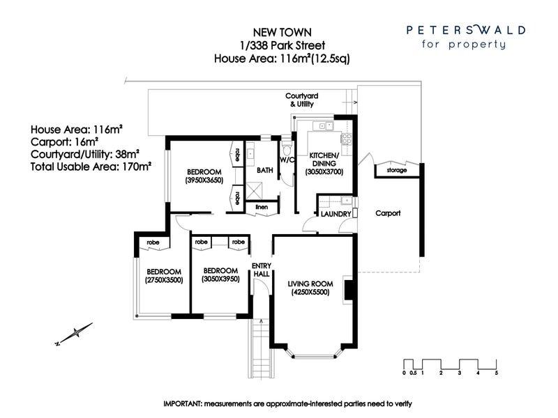 1/338 Park Street, New Town, Tas 7008 - floorplan