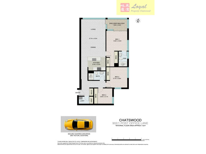 902/1 Post Office Lane, Chatswood, NSW 2067 - floorplan