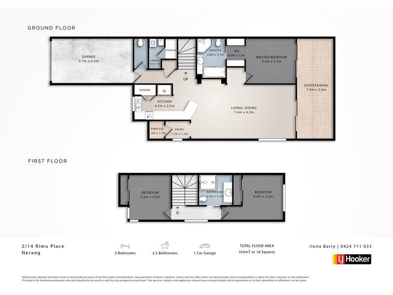 2/14 Rimu Place, Nerang, Qld 4211 - floorplan