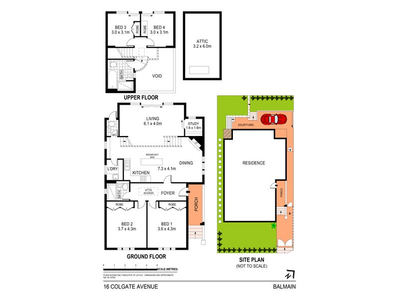 16 Colgate Avenue, Balmain, NSW 2041 - floorplan