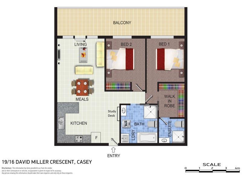 19/16 David Miller Crescent, Casey, ACT 2913 - floorplan