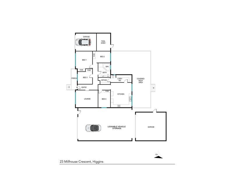 23 Millhouse Crescent, Higgins, ACT 2615 - floorplan