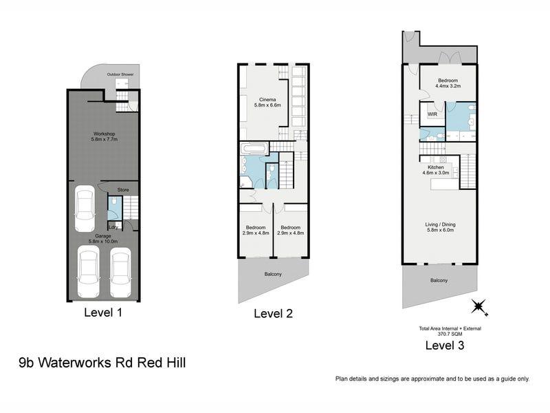 9B Waterworks Road, Red Hill, Qld 4059 - floorplan